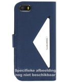 Mobiparts Classic Wallet Case Apple iPhone 5/5S/SE Blue